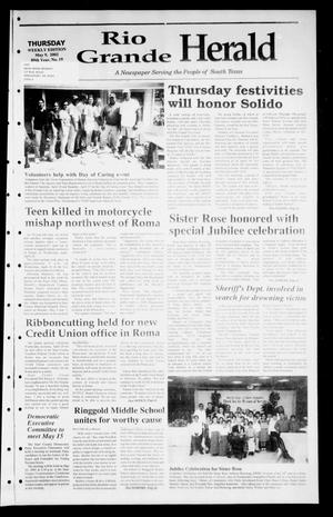 Primary view of object titled 'Rio Grande Herald (Rio Grande City, Tex.), Vol. 89, No. 19, Ed. 1 Thursday, May 9, 2002'.