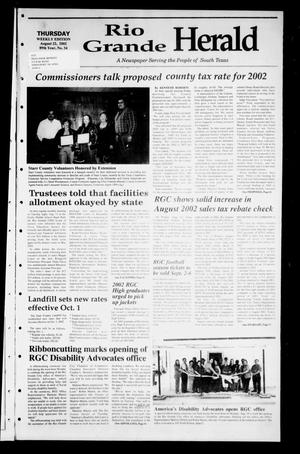 Primary view of object titled 'Rio Grande Herald (Rio Grande City, Tex.), Vol. 89, No. 34, Ed. 1 Thursday, August 22, 2002'.