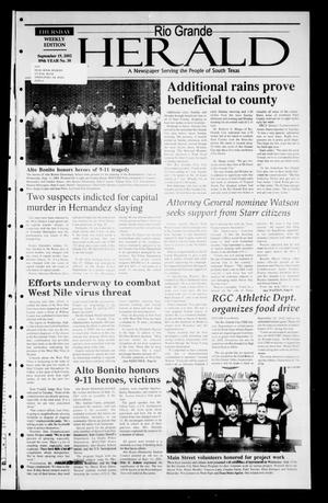 Primary view of object titled 'Rio Grande Herald (Rio Grande City, Tex.), Vol. 89, No. 38, Ed. 1 Thursday, September 19, 2002'.