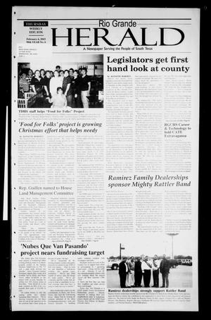 Primary view of object titled 'Rio Grande Herald (Rio Grande City, Tex.), Vol. 90, No. 6, Ed. 1 Thursday, February 6, 2003'.