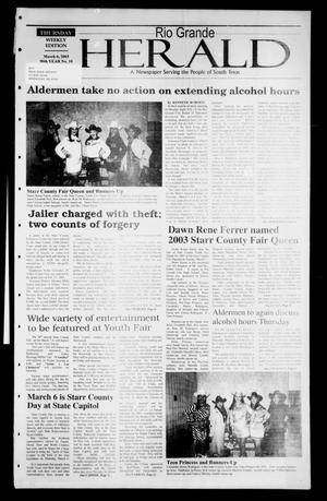 Rio Grande Herald (Rio Grande City, Tex.), Vol. 90, No. 10, Ed. 1 Thursday, March 6, 2003