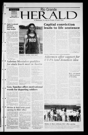 Primary view of object titled 'Rio Grande Herald (Rio Grande City, Tex.), Vol. 90, No. 19, Ed. 1 Thursday, May 8, 2003'.