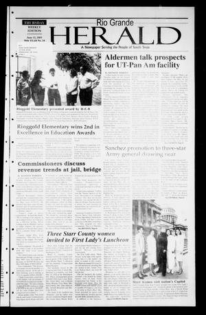 Primary view of object titled 'Rio Grande Herald (Rio Grande City, Tex.), Vol. 90, No. 24, Ed. 1 Thursday, June 12, 2003'.