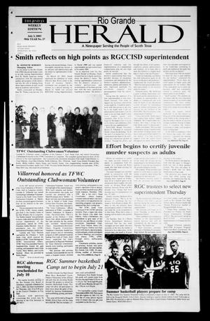 Primary view of object titled 'Rio Grande Herald (Rio Grande City, Tex.), Vol. 90, No. 27, Ed. 1 Thursday, July 3, 2003'.