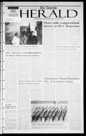 Rio Grande Herald (Rio Grande City, Tex.), Vol. 90, No. 45, Ed. 1 Thursday, November 13, 2003