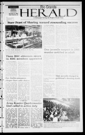 Primary view of object titled 'Rio Grande Herald (Rio Grande City, Tex.), Vol. 90, No. 49, Ed. 1 Thursday, December 11, 2003'.