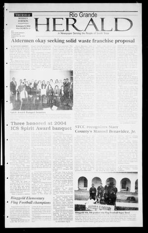 Primary view of object titled 'Rio Grande Herald (Rio Grande City, Tex.), Vol. 91, No. 6, Ed. 1 Thursday, February 5, 2004'.