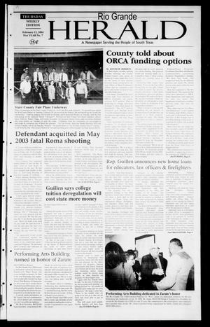 Rio Grande Herald (Rio Grande City, Tex.), Vol. 91, No. 7, Ed. 1 Thursday, February 12, 2004
