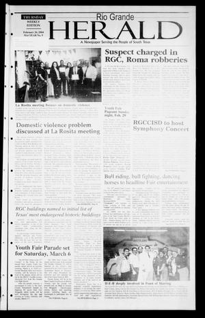 Rio Grande Herald (Rio Grande City, Tex.), Vol. 91, No. 9, Ed. 1 Thursday, February 26, 2004