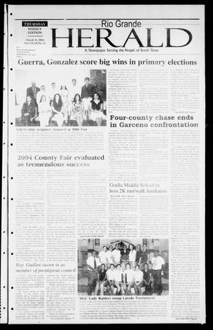 Primary view of object titled 'Rio Grande Herald (Rio Grande City, Tex.), Vol. 91, No. 11, Ed. 1 Thursday, March 11, 2004'.