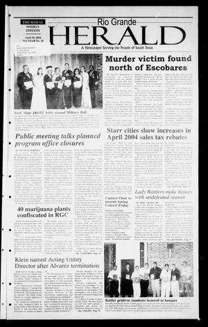 Primary view of object titled 'Rio Grande Herald (Rio Grande City, Tex.), Vol. 91, No. 18, Ed. 1 Thursday, April 29, 2004'.