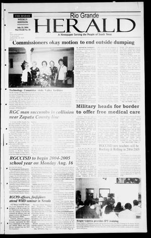 Primary view of object titled 'Rio Grande Herald (Rio Grande City, Tex.), Vol. 91, No. 30, Ed. 1 Thursday, July 22, 2004'.