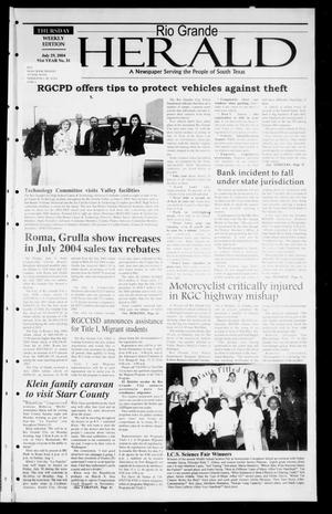 Rio Grande Herald (Rio Grande City, Tex.), Vol. 91, No. 31, Ed. 1 Thursday, July 29, 2004