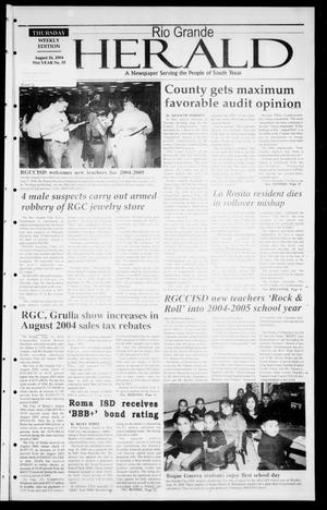 Rio Grande Herald (Rio Grande City, Tex.), Vol. 91, No. 35, Ed. 1 Thursday, August 26, 2004