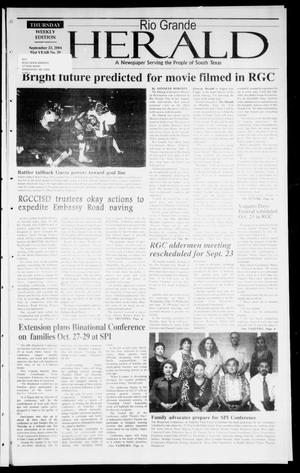 Primary view of object titled 'Rio Grande Herald (Rio Grande City, Tex.), Vol. 91, No. 39, Ed. 1 Thursday, September 23, 2004'.