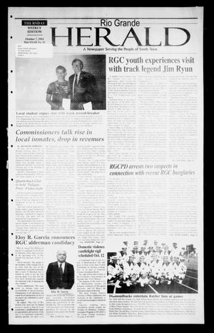 Primary view of object titled 'Rio Grande Herald (Rio Grande City, Tex.), Vol. 91, No. 41, Ed. 1 Thursday, October 7, 2004'.