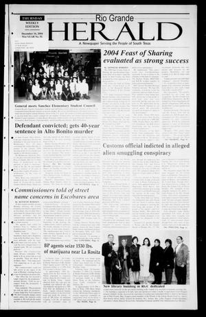 Primary view of object titled 'Rio Grande Herald (Rio Grande City, Tex.), Vol. 91, No. 51, Ed. 1 Thursday, December 16, 2004'.