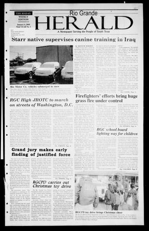 Primary view of object titled 'Rio Grande Herald (Rio Grande City, Tex.), Vol. 92, No. 1, Ed. 1 Thursday, January 6, 2005'.