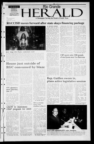 Primary view of object titled 'Rio Grande Herald (Rio Grande City, Tex.), Vol. 92, No. 3, Ed. 1 Thursday, January 20, 2005'.