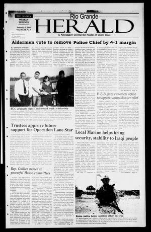 Primary view of object titled 'Rio Grande Herald (Rio Grande City, Tex.), Vol. 92, No. 5, Ed. 1 Thursday, February 3, 2005'.