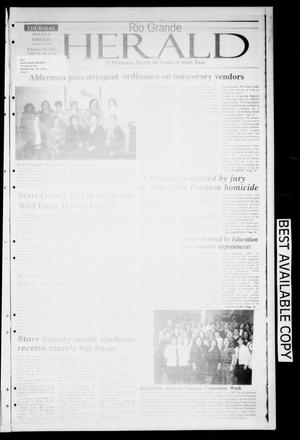 Primary view of object titled 'Rio Grande Herald (Rio Grande City, Tex.), Vol. 92, No. 6, Ed. 1 Thursday, February 10, 2005'.