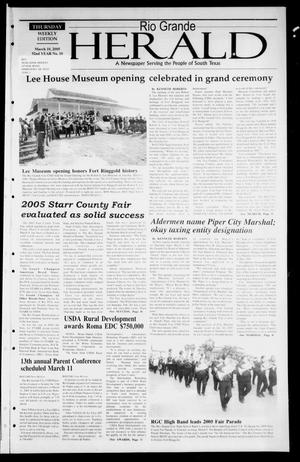 Rio Grande Herald (Rio Grande City, Tex.), Vol. 92, No. 10, Ed. 1 Thursday, March 10, 2005