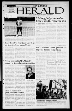 Primary view of object titled 'Rio Grande Herald (Rio Grande City, Tex.), Vol. 92, No. 18, Ed. 1 Thursday, May 5, 2005'.