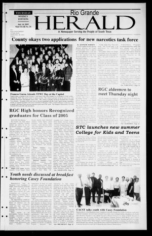 Rio Grande Herald (Rio Grande City, Tex.), Vol. 92, No. 28, Ed. 1 Thursday, July 14, 2005