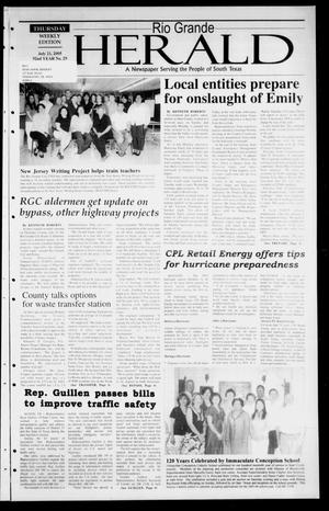 Primary view of object titled 'Rio Grande Herald (Rio Grande City, Tex.), Vol. 92, No. 29, Ed. 1 Thursday, July 21, 2005'.