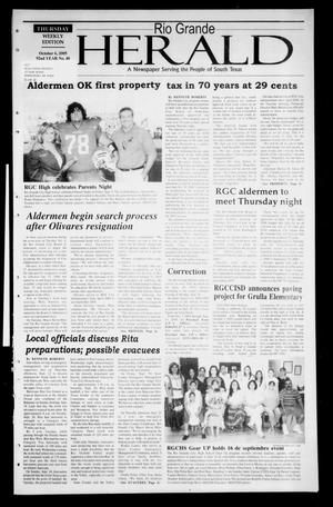 Rio Grande Herald (Rio Grande City, Tex.), Vol. 92, No. 40, Ed. 1 Thursday, October 6, 2005