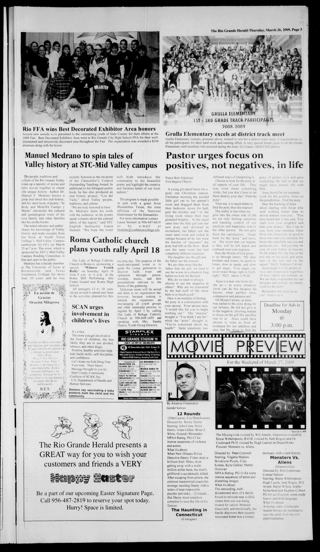 Rio Grande Herald Rio Grande City Tex Vol 96 No 12 Ed 1