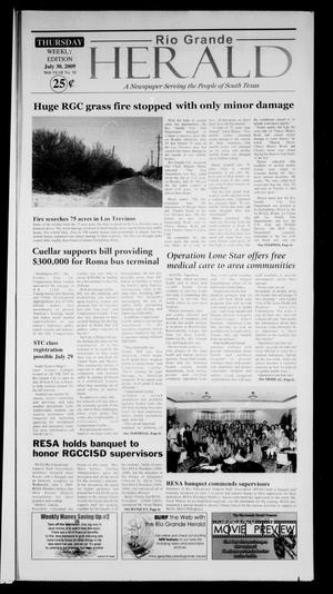 Primary view of object titled 'Rio Grande Herald (Rio Grande City, Tex.), Vol. 96, No. 30, Ed. 1 Thursday, July 30, 2009'.