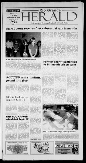 Primary view of object titled 'Rio Grande Herald (Rio Grande City, Tex.), Vol. 96, No. 36, Ed. 1 Thursday, September 10, 2009'.
