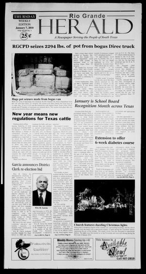 Primary view of object titled 'Rio Grande Herald (Rio Grande City, Tex.), Vol. 97, No. 1, Ed. 1 Thursday, January 7, 2010'.