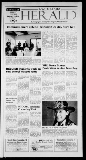 Primary view of object titled 'Rio Grande Herald (Rio Grande City, Tex.), Vol. 97, No. 7, Ed. 1 Thursday, February 18, 2010'.