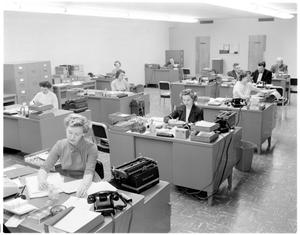 Primary view of object titled 'Interior of the Texas Employees Insurance Association'.
