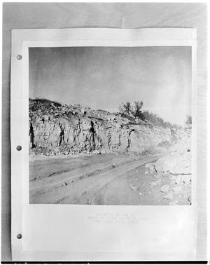 Primary view of object titled '[Picture of a Dolomite Quarry on a piece of paper]'.