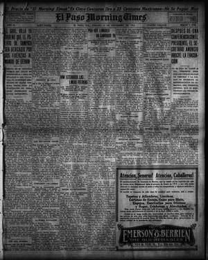 Primary view of object titled 'El Paso Morning Times (El Paso, Tex.), Vol. 35TH YEAR, Ed. 1, Saturday, November 14, 1914'.