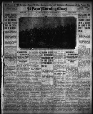 Primary view of object titled 'El Paso Morning Times (El Paso, Tex.), Vol. 35TH YEAR, Ed. 1, Monday, November 16, 1914'.
