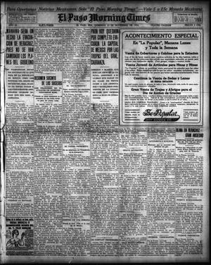 Primary view of object titled 'El Paso Morning Times (El Paso, Tex.), Vol. 35TH YEAR, Ed. 1, Sunday, November 22, 1914'.