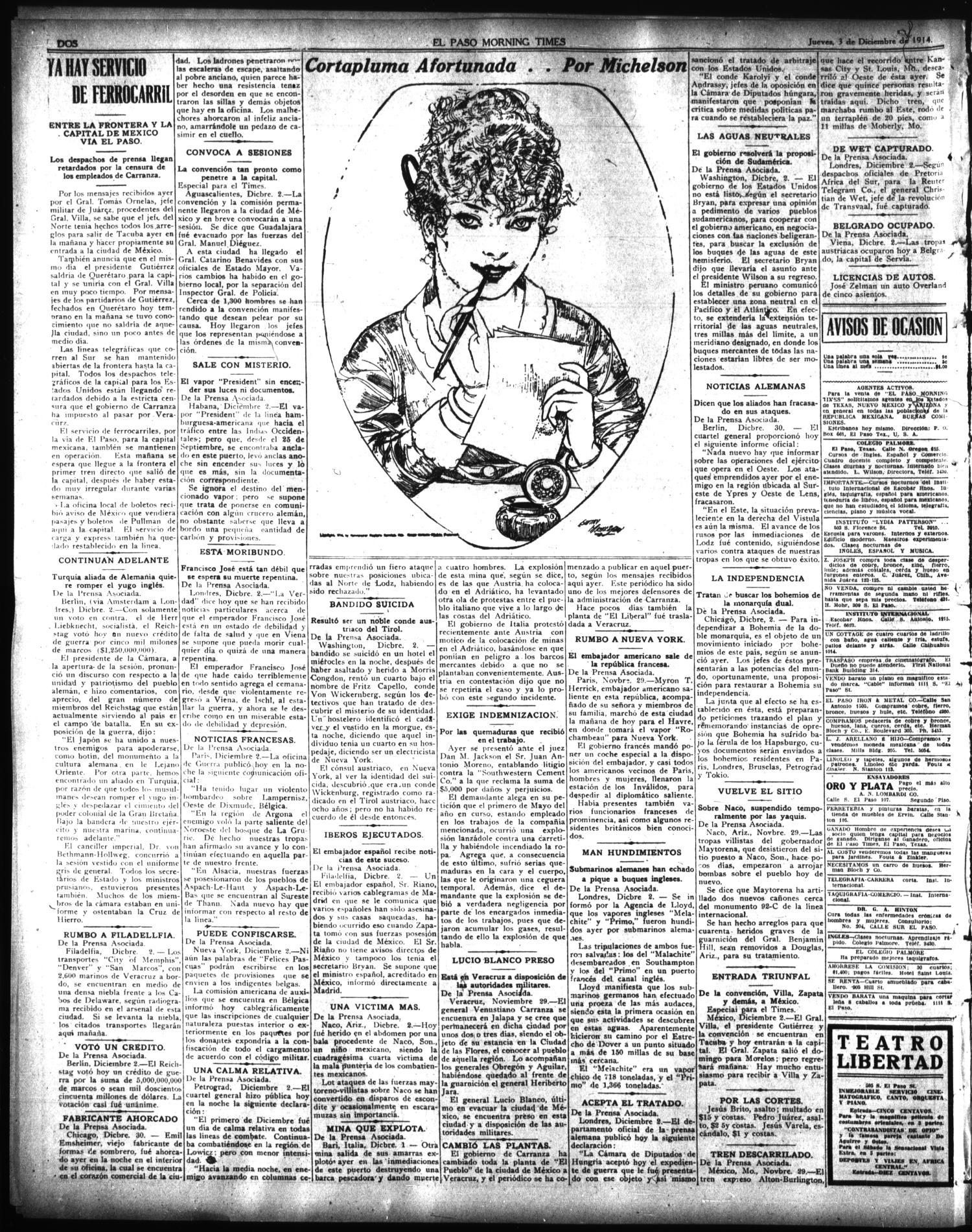 El Paso Morning Times El Paso Tex Vol 35th Year Ed 1  # Muebles Gutierrez Cortes De La Frontera
