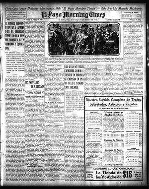 Primary view of object titled 'El Paso Morning Times (El Paso, Tex.), Vol. 35TH YEAR, Ed. 1, Saturday, December 5, 1914'.
