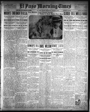 Primary view of object titled 'El Paso Morning Times (El Paso, Tex.), Vol. 33RD YEAR, Ed. 1, Saturday, August 2, 1913'.