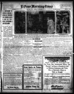 Primary view of object titled 'El Paso Morning Times (El Paso, Tex.), Vol. 35TH YEAR, Ed. 1, Sunday, January 3, 1915'.
