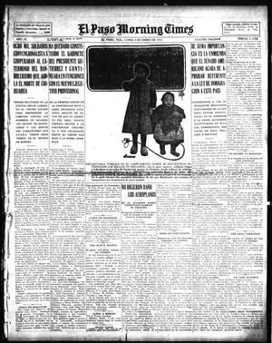 Primary view of object titled 'El Paso Morning Times (El Paso, Tex.), Vol. 35TH YEAR, Ed. 1, Monday, January 4, 1915'.