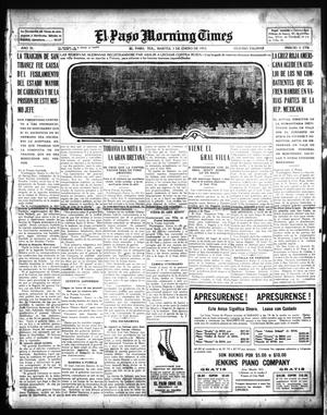 Primary view of object titled 'El Paso Morning Times (El Paso, Tex.), Vol. 35TH YEAR, Ed. 1, Tuesday, January 5, 1915'.