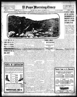 Primary view of object titled 'El Paso Morning Times (El Paso, Tex.), Vol. 35TH YEAR, Ed. 1, Saturday, January 9, 1915'.