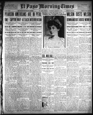 Primary view of object titled 'El Paso Morning Times (El Paso, Tex.), Vol. 33RD YEAR, Ed. 1, Tuesday, August 5, 1913'.