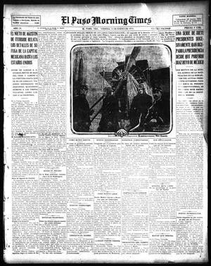 Primary view of object titled 'El Paso Morning Times (El Paso, Tex.), Vol. 35TH YEAR, Ed. 1, Friday, January 15, 1915'.