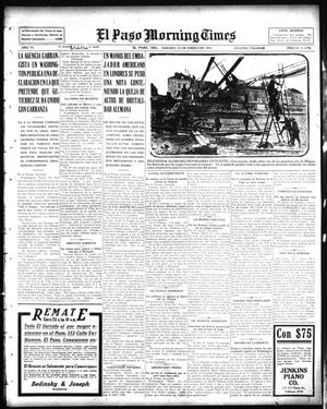 Primary view of object titled 'El Paso Morning Times (El Paso, Tex.), Vol. 35TH YEAR, Ed. 1, Saturday, January 23, 1915'.